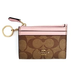 Coach Mini Skinny ID Case Signature Canvas